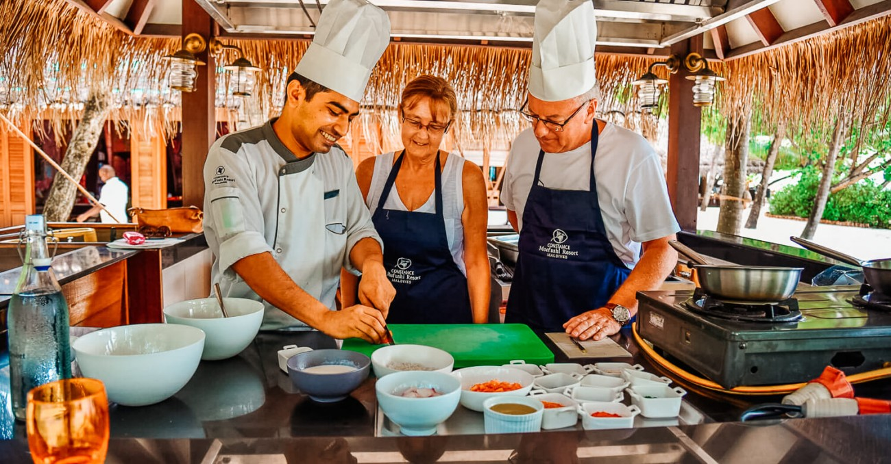 Culinary crunching in the maldives